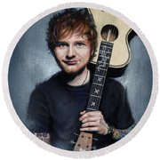 Ed Sheeran Round Beach Towel