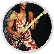 Eddie Van Halen Round Beach Towel