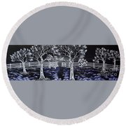 Eden Gate. Round Beach Towel