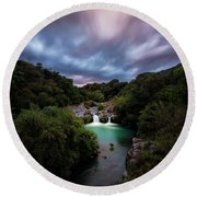 Eden Round Beach Towel by Giuseppe Torre