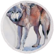 Edge Round Beach Towel by Mark Adlington