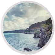 Edge Of The Sea Round Beach Towel