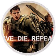 Edge Of Tomorrow Round Beach Towel