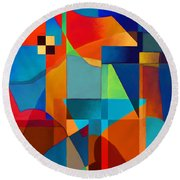 Round Beach Towel featuring the digital art Edges by Elena Nosyreva