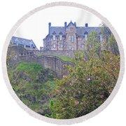 Edinburgh Castle Round Beach Towel