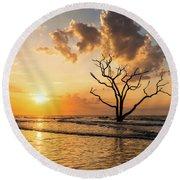 Edisto Island Sunrise I Round Beach Towel