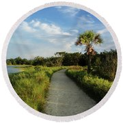 Edisto Round Beach Towel