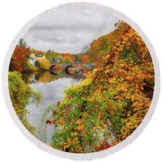 Edna Dean Proctor Bridge Round Beach Towel