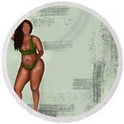 Round Beach Towel featuring the digital art Eff Your Beauty Standards by Bria Elyce