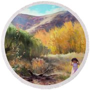 Round Beach Towel featuring the photograph Effervescence by Steve Henderson
