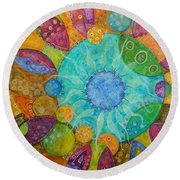 Effervescent Round Beach Towel by Tanielle Childers