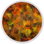 Round Beach Towel featuring the digital art Effervescent Ties by Jason Hanson