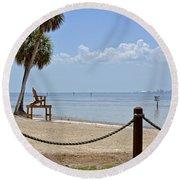 E G Simmons Park Beach Round Beach Towel by Carol  Bradley