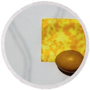 Egg And Cheese Round Beach Towel