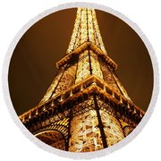 Eiffel Round Beach Towel