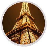 Eiffel Round Beach Towel by Skip Hunt