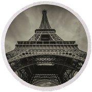 Eiffel Tower 1 Round Beach Towel