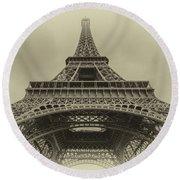 Eiffel Tower 2 Round Beach Towel