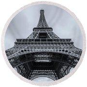 Eiffel Tower 3 Round Beach Towel