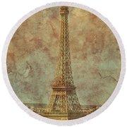 Paris, France - Eiffel Tower Round Beach Towel