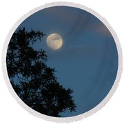 Round Beach Towel featuring the photograph Eight Thirty Two Pm by Greg Patzer