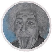 Einstein Round Beach Towel