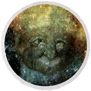 Einsteins Cosmic Travels Round Beach Towel