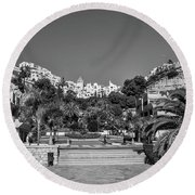 El Capistrano, Nerja Round Beach Towel by John Edwards
