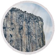 El Capitan Up Close And Personal From Tunnel View Yosemite Np Round Beach Towel