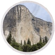 El Capitan Yosemite Valley Yosemite National Park Round Beach Towel