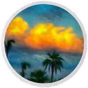 El Dorado Atardecer II Round Beach Towel