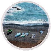 El Golfo Round Beach Towel by Delphimages Photo Creations
