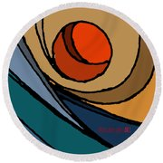 el MariAbelon blue Round Beach Towel