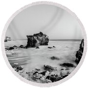 Round Beach Towel featuring the photograph El Matador State Beach by Margaret Pitcher