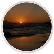 El Matador Sunset Round Beach Towel