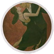 El Tango Round Beach Towel by Steve Mitchell