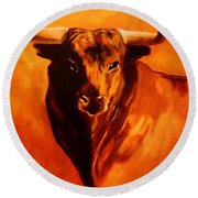 El Toro Round Beach Towel