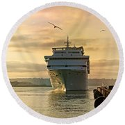 Elation - Leaving For A Cruise Round Beach Towel