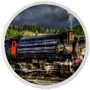 Elbe Steam Engine 17 Hdr 2  Round Beach Towel by Rob Green