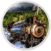 Elbe Steam Engine #17 Hdr Round Beach Towel by Rob Green