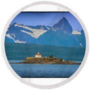 Eldred Rock Light Round Beach Towel