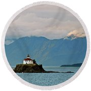 Eldred Rock Lighthouse Skagway Round Beach Towel
