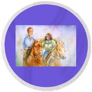 Eleanor And George Round Beach Towel