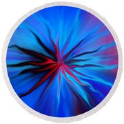 Electric Blue 2 Round Beach Towel