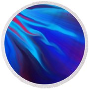 Electric Blue Round Beach Towel