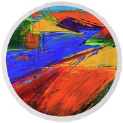 Electric Color Round Beach Towel