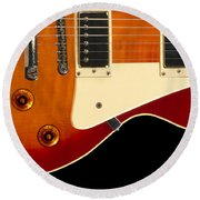 Electric Guitar 4 Round Beach Towel