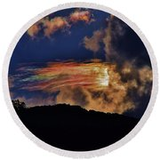 Round Beach Towel featuring the photograph Electric Rainbow by Craig Wood