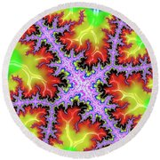 Electric Round Beach Towel