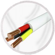 Electrical Cable Round Beach Towel